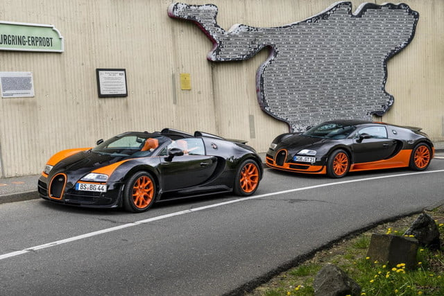 Bugatti Veyron Super Sport and Grand Sport Vitesse at the Nurburgring
