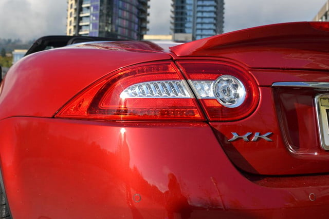 2012 jaguar xkr review left tail light