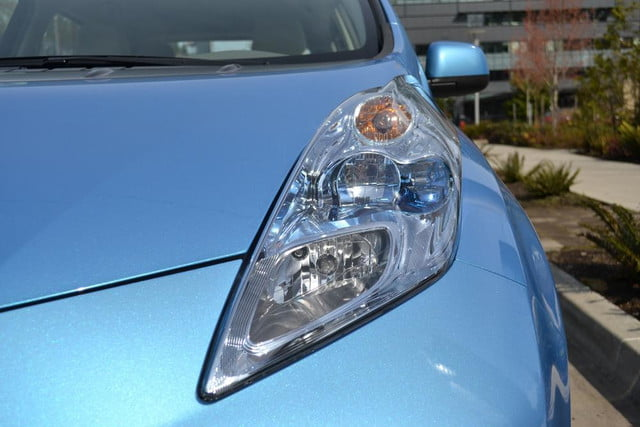 2012 nissan leaf review exterior headlights