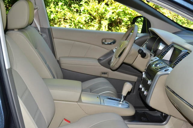 2012 nissan murano sl awd crossover review interior front seats