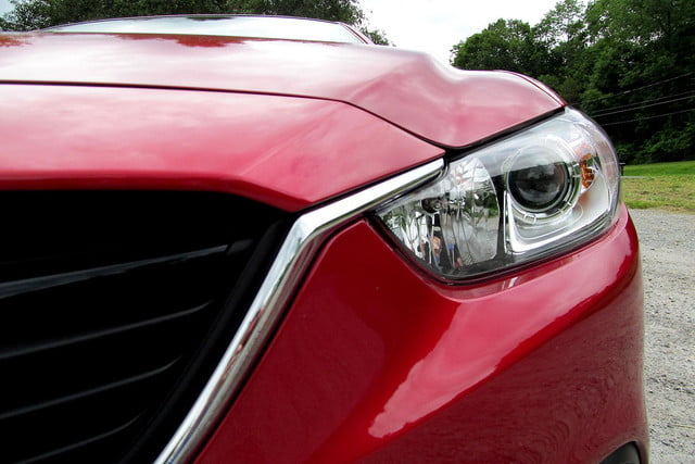 2014 mazda6 i touring review front headlight