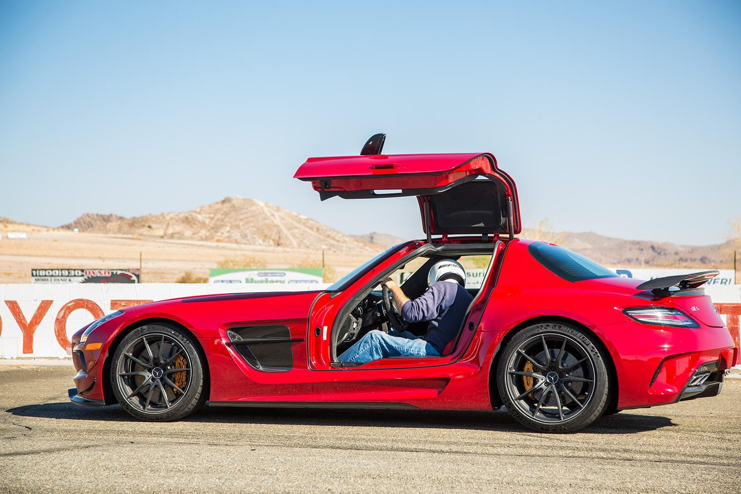 2014 Mercedes Benz SLS AMG Black Series Back Red Side