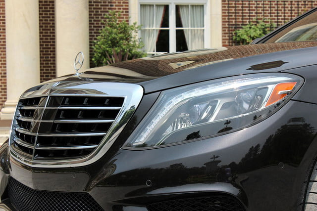 2015 Mercedes Benz S550 front section