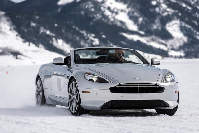 2016 aston martin on ice first drive 25 am track
