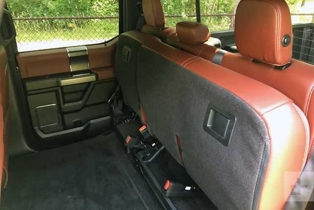 2018 Ford F 150 review rear seats folded