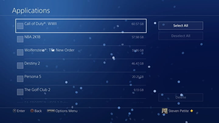 ps4 how to delete reinstall games 20180108131014