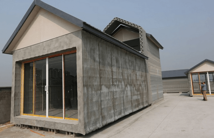 giant 3d printer can build 10 prefab homes 24 hours printed houses 2