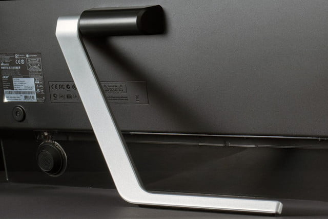 Acer TA272HUL review rear stand macro