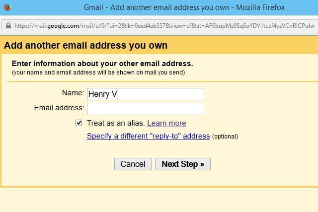 Email Address In Gmail