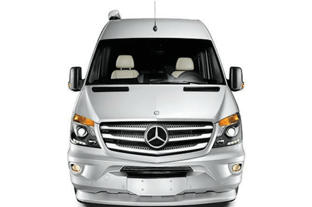 airstream interstate grand tour ext front view silver