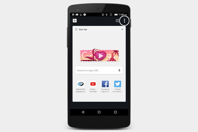 android chrome private browsing
