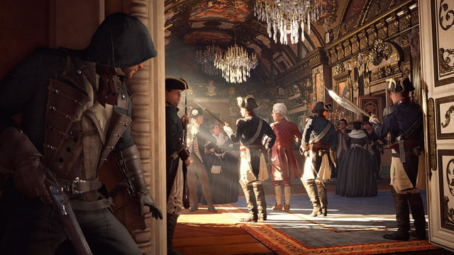 assassins creed unity reveals new weapons missions team opportunities ballroomstealth