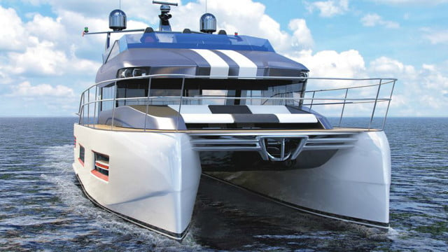 Katamaran sport  Russian yacht company builds boats with car-shaped top decks
