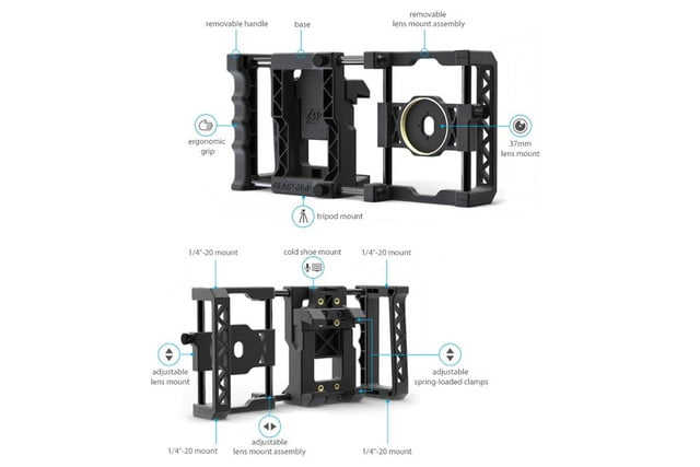 beastgrip pro rig turns regular smartphones into an interchangeable lens camera 3