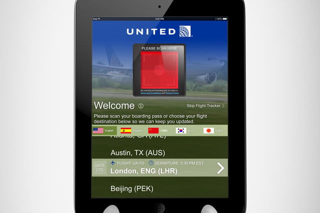ipads are replacing waiters in airport restaurants boarding pass scan