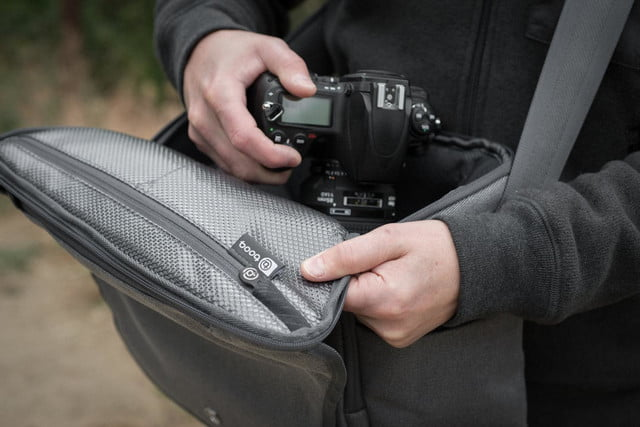 squeeze 2 dslrs and laptop into booqs python catch bag theres still room booq 4