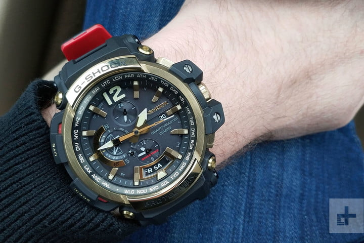 Casio G Shock GPW-2000 review arm angle