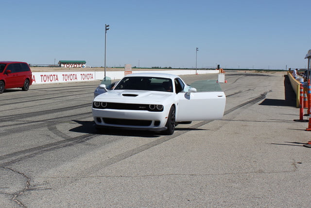 2015 dodge charger challenger srt hellcats track review and hellcat on front doors open