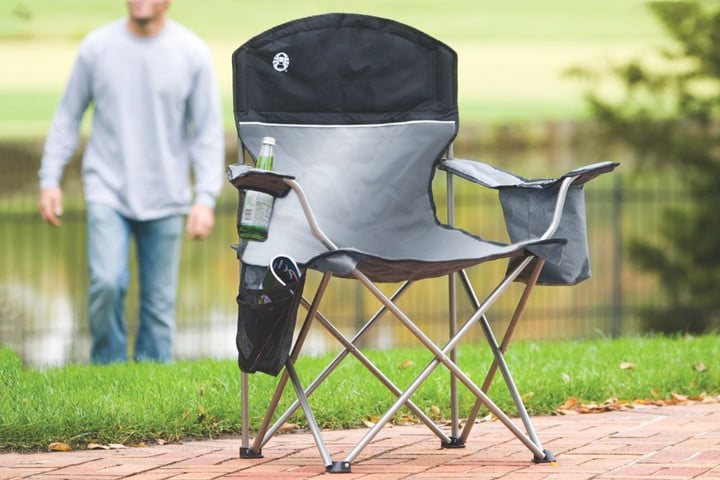 Best Camping Chairs Coleman Oversized Quad Chair with Cooler