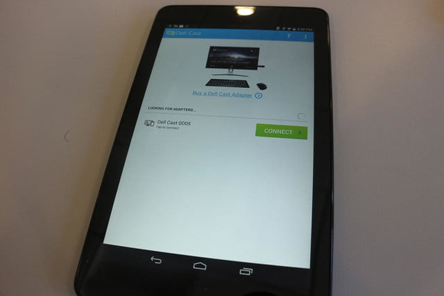 Dell Cast hands on tablet screen