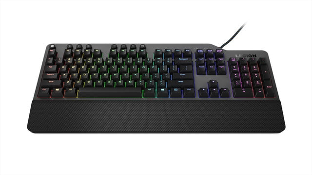 lenovo announce new legion gaming peripherals ces 2019 02 k500 red mechanical keys 50 million clicks