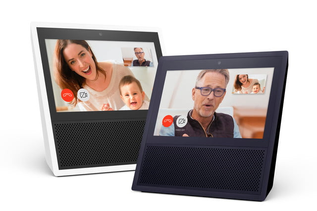 echo show speaker amazon  black and white