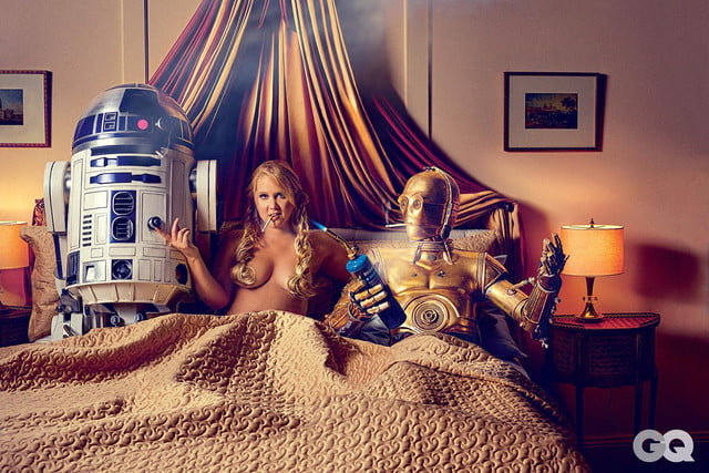 amy schumer risque star wars photo shoot gq is the funniest woman in galaxy  mark seliger 04