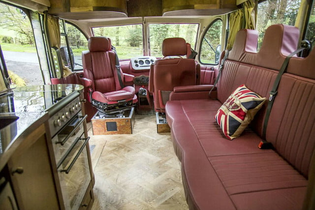 coolest bus to mobile home conversions bedfordbusinside