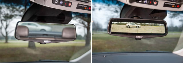 Cadillac rearview mirror with streaming video