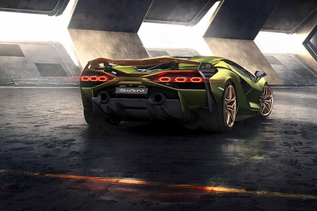 2020 lamborghini sian is a high tech hypercar with hybrid power