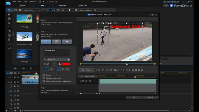 cyberlink director suite 4s new features include action cam video editing motion tracking enu