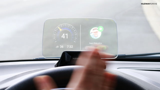 hudway drive heads up display hands on review gesture