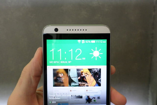htc desire 820 hands on clock