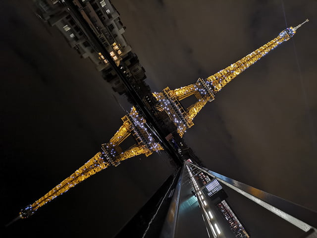 huawei p20 pro review sample photo eiffel reflection