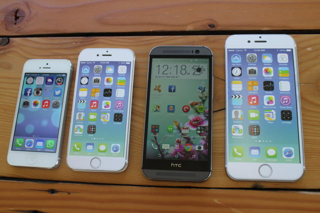 iphone 6 plus size comparison htc one m8