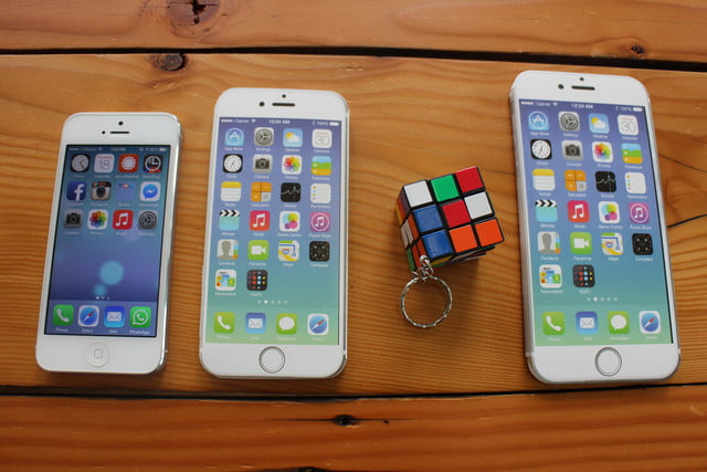 iphone 6 plus size comparison rubix cube keychain