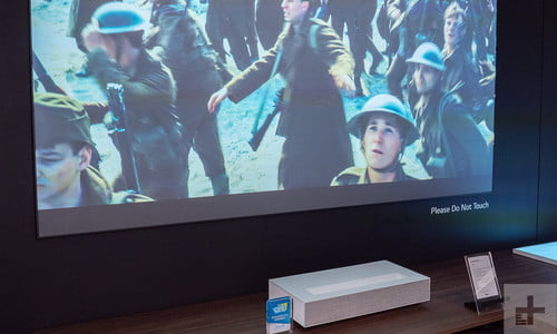 LG's New Short-Throw Projector has Two Laser Beams   CES