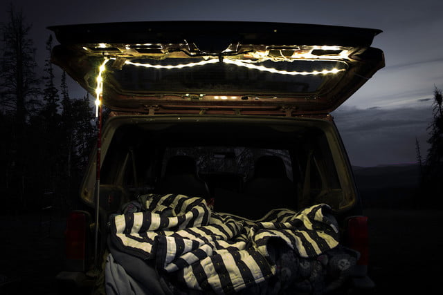 the luminoodle is a portable led light strip tailgate