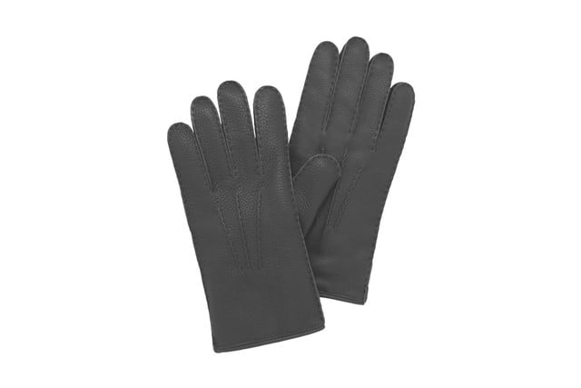 Mulberry Day Glove Black Deerskin