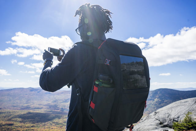 volatic array offgrid solar backpack waterbottle