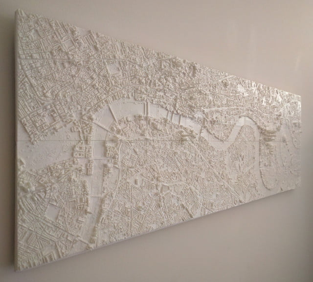 london 3d printed wall art on