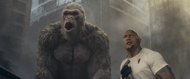 rampage review movie rock gorilla