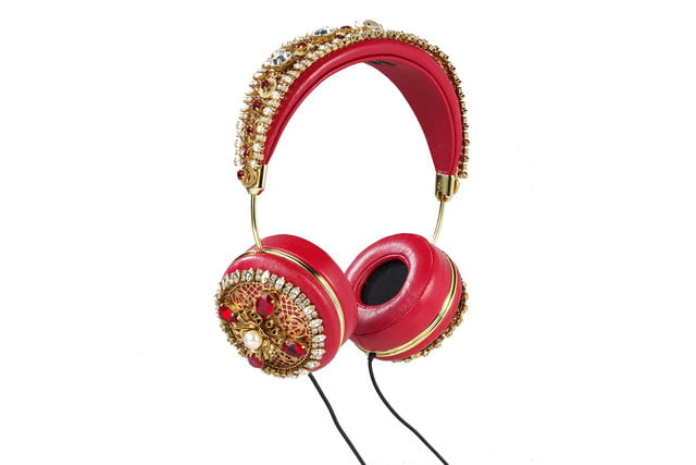 rihanna sells out 9000 dollar dolce gabanna headphones red napa hanging