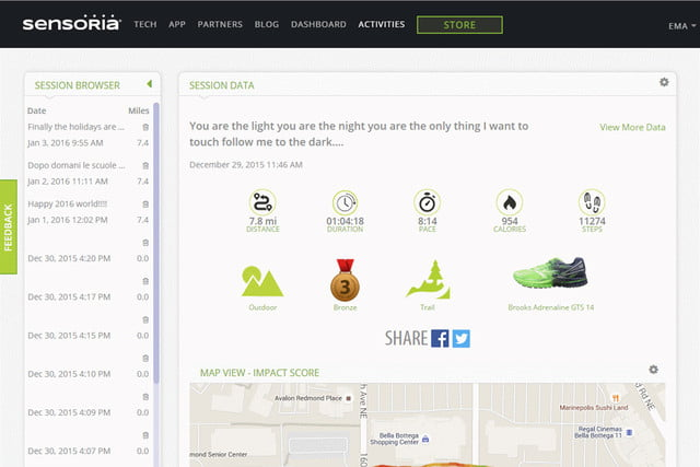sensoria overhauls its app and unveils a fitness chip dashboard 1a