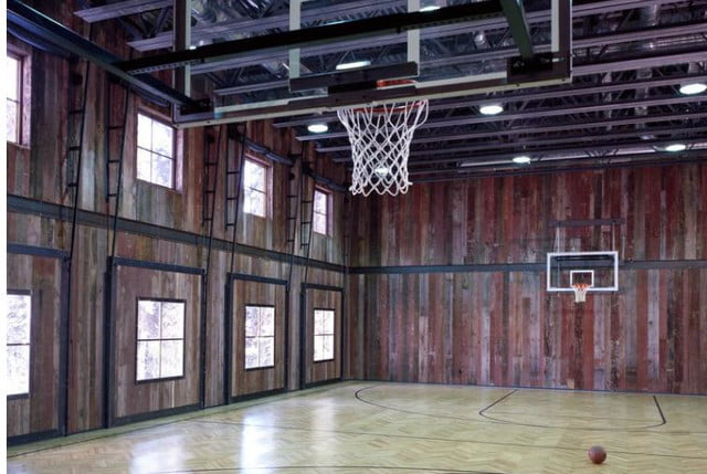 homes with indoor basketball courts slifer design court