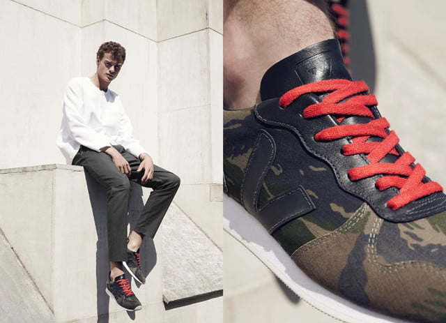 Veja sustainable sneakers - men's camo red
