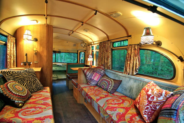 coolest bus to mobile home conversions vikingbusinside1
