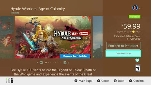 How To Download The Hyrule Warriors Demo On The Switch Digital Trends
