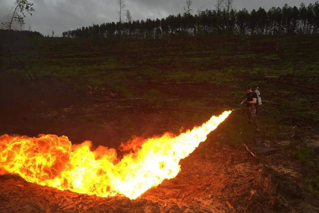 Ridiculous and Legal Flamethrower Spits 65-foot Stream of