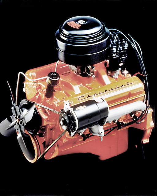 torque camionetas chevrolet 1955 265 cubic inch  4 3l v 8 engine with two barrel carburetor rated at 162 horsepower and 257 l